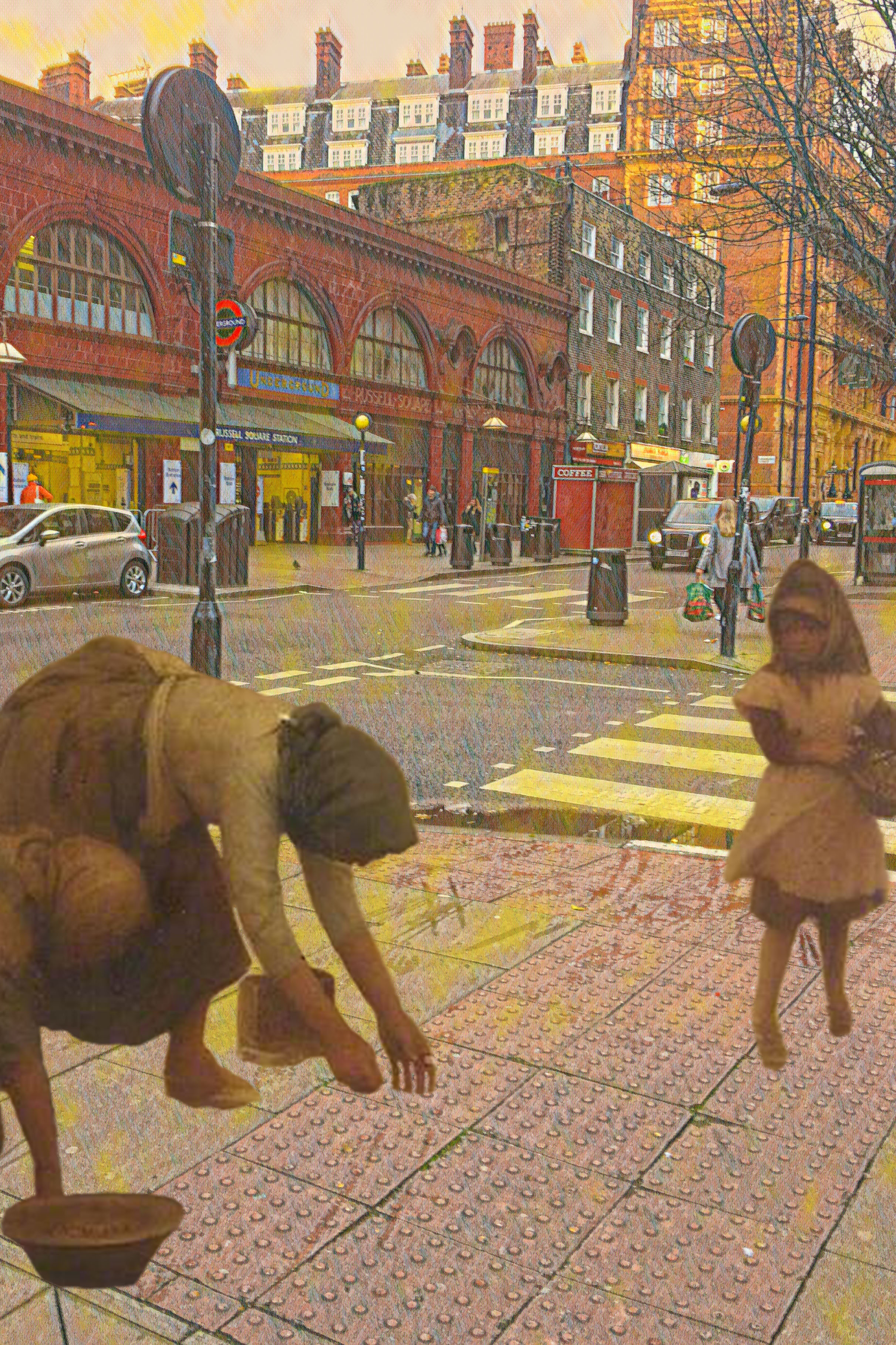 "Arthur Hacker's ""Cockle Gatherers"" (n.d.) near Russell Square Underground Station"