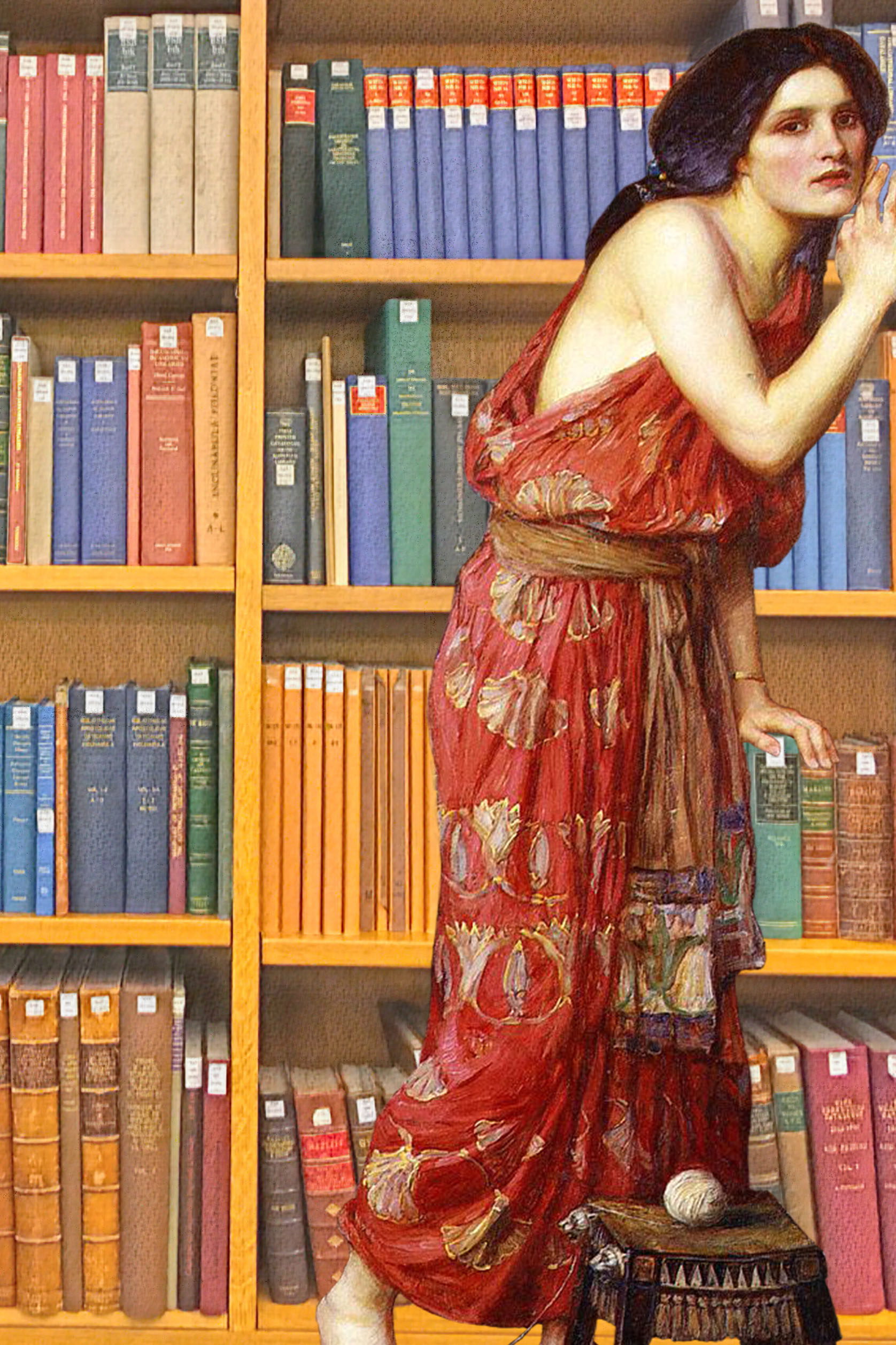 "John William Waterhouse's ""Thisbe"" (1909) in Rare Books & Music in the British Library"