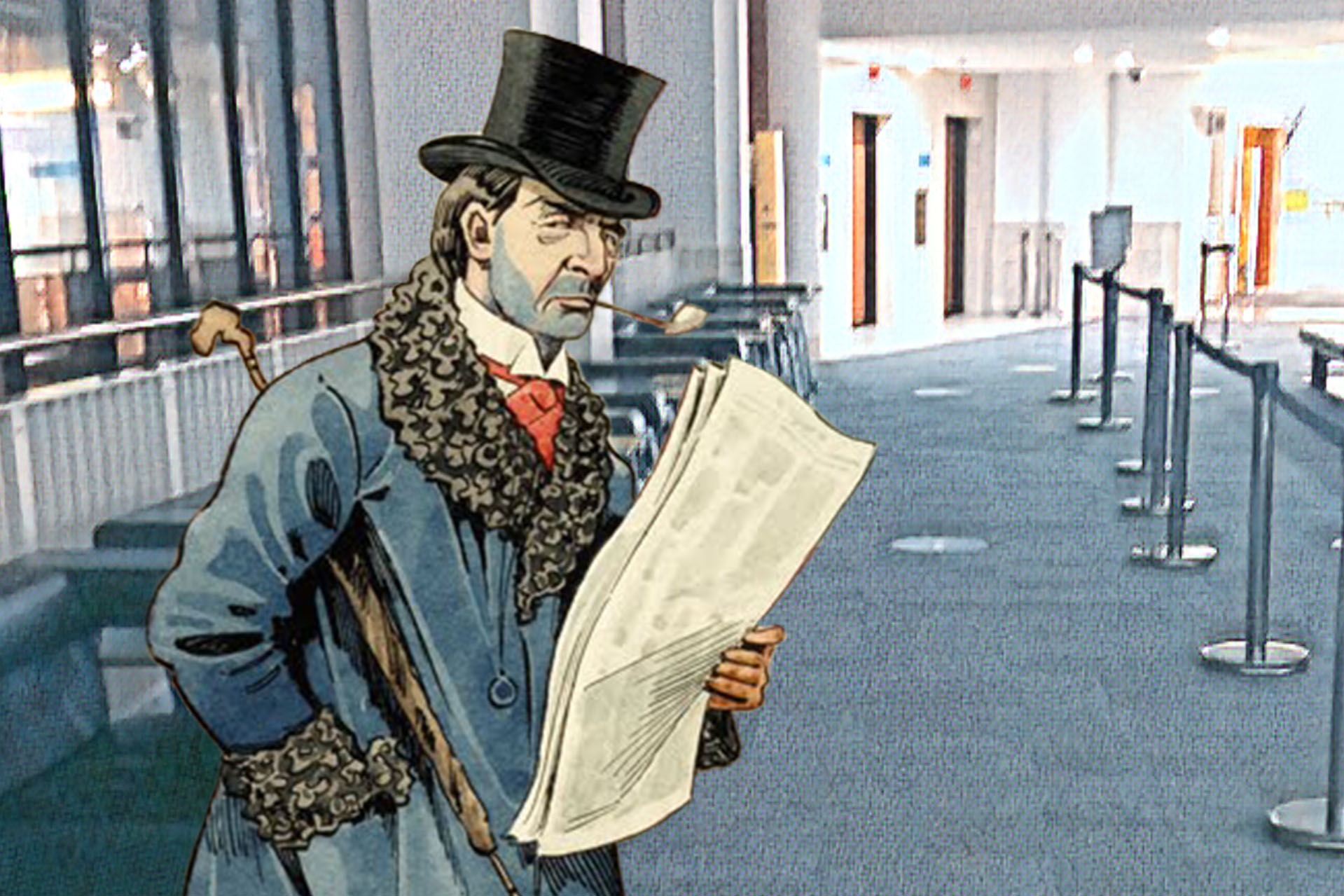 """John Clayton Clark's """"A Reader of the Era"""" (c1900) in the British Library"""