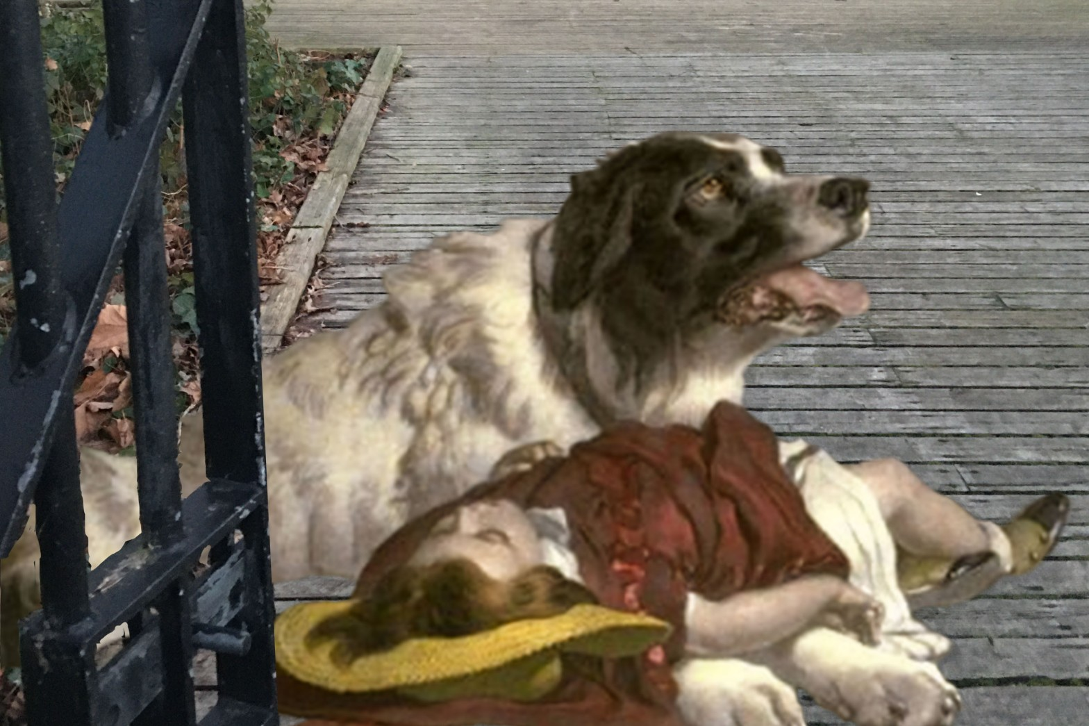 "Edwin Landseer's ""Saved"" (1856) in Twinkle Park, Deptford"