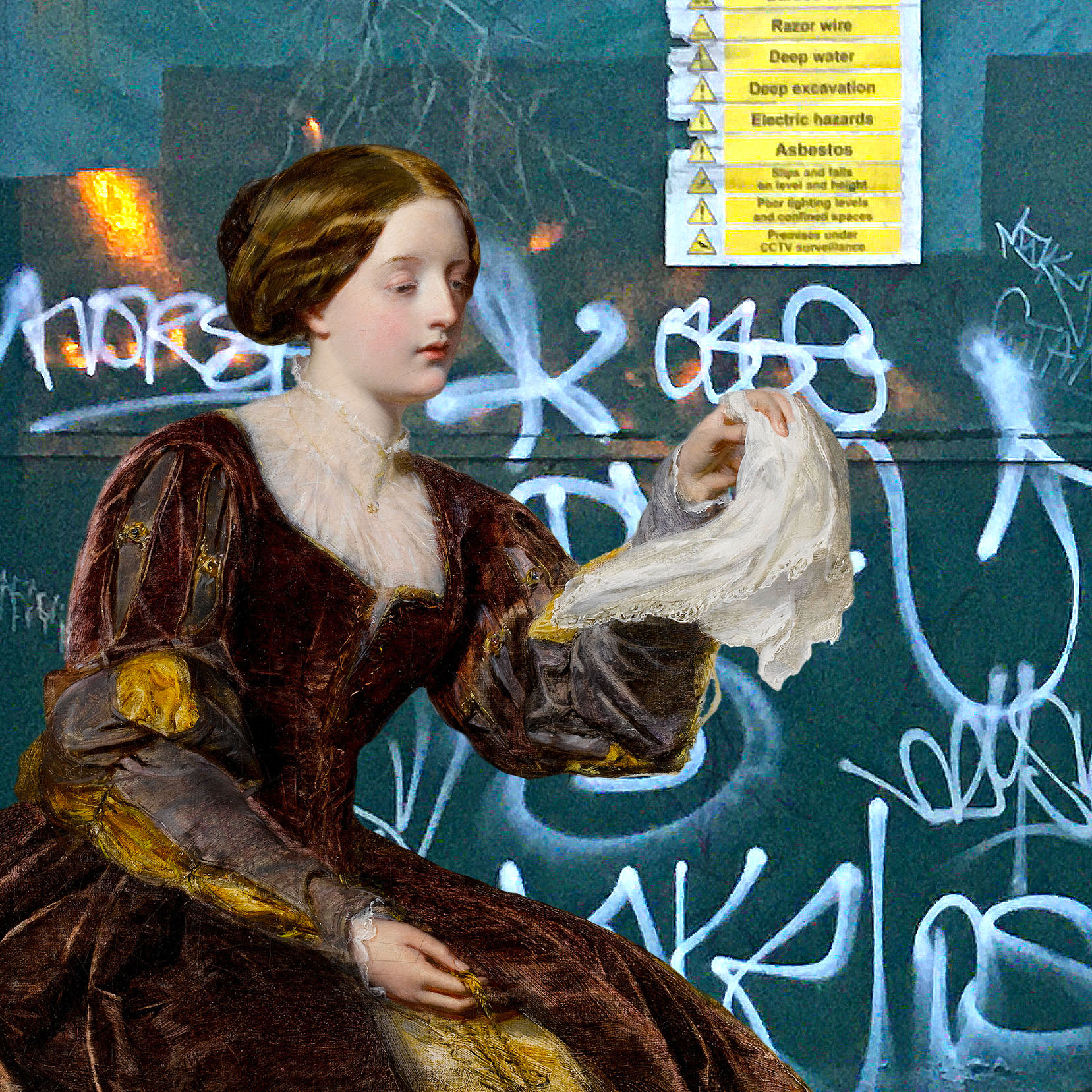 """William Powell Frith's """"The Signal"""" (1858) on Watergate Street in Deptford"""