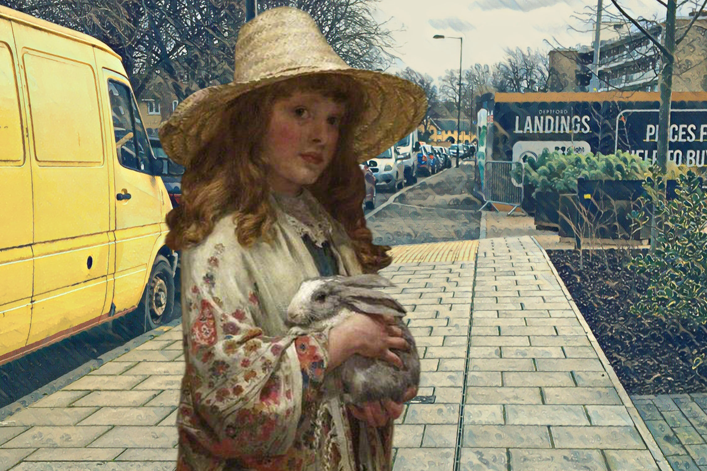 """George Sheridan Knowles's """"Her First Love"""" (1885) on Grove Street in Deptford"""