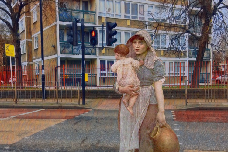 "Annie Swynnerton's ""The Young Mother"" (c.1887) crossing Evelyn Street, Deptford"