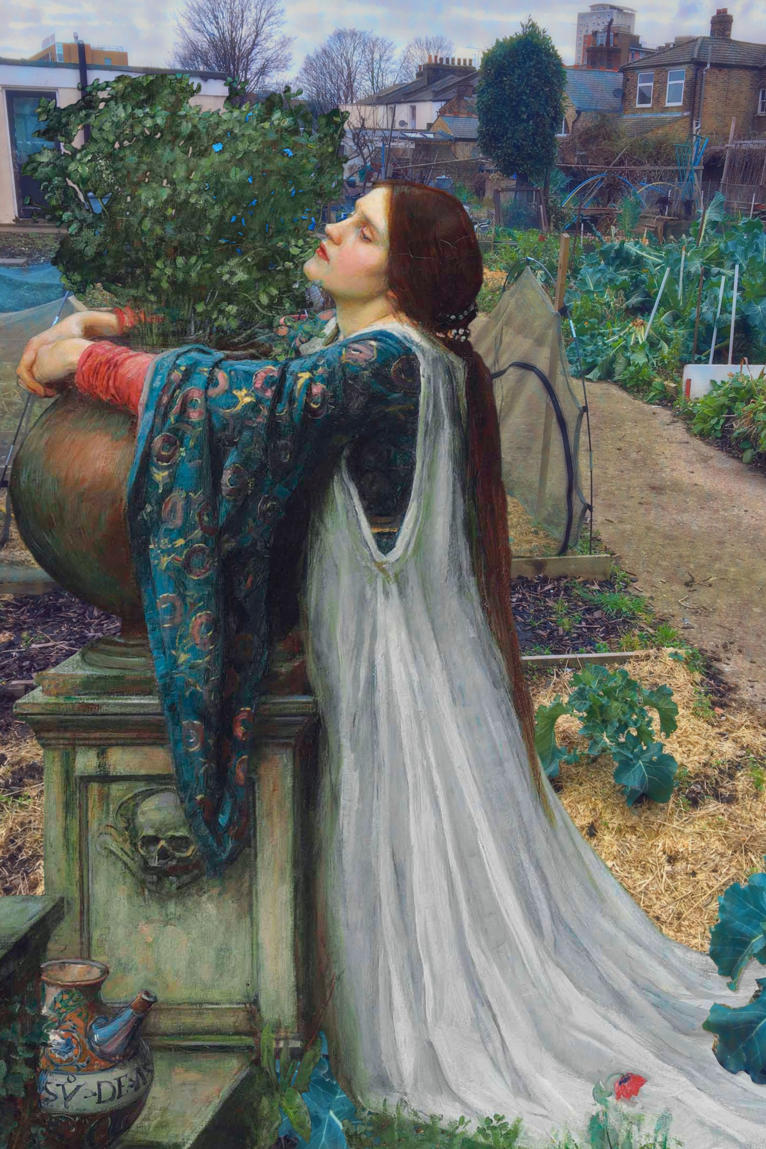 "John William Waterhouse's ""Isabella and the Pot of Basil"" (1907) in the Royal Naval Place Allotments, New Cross"