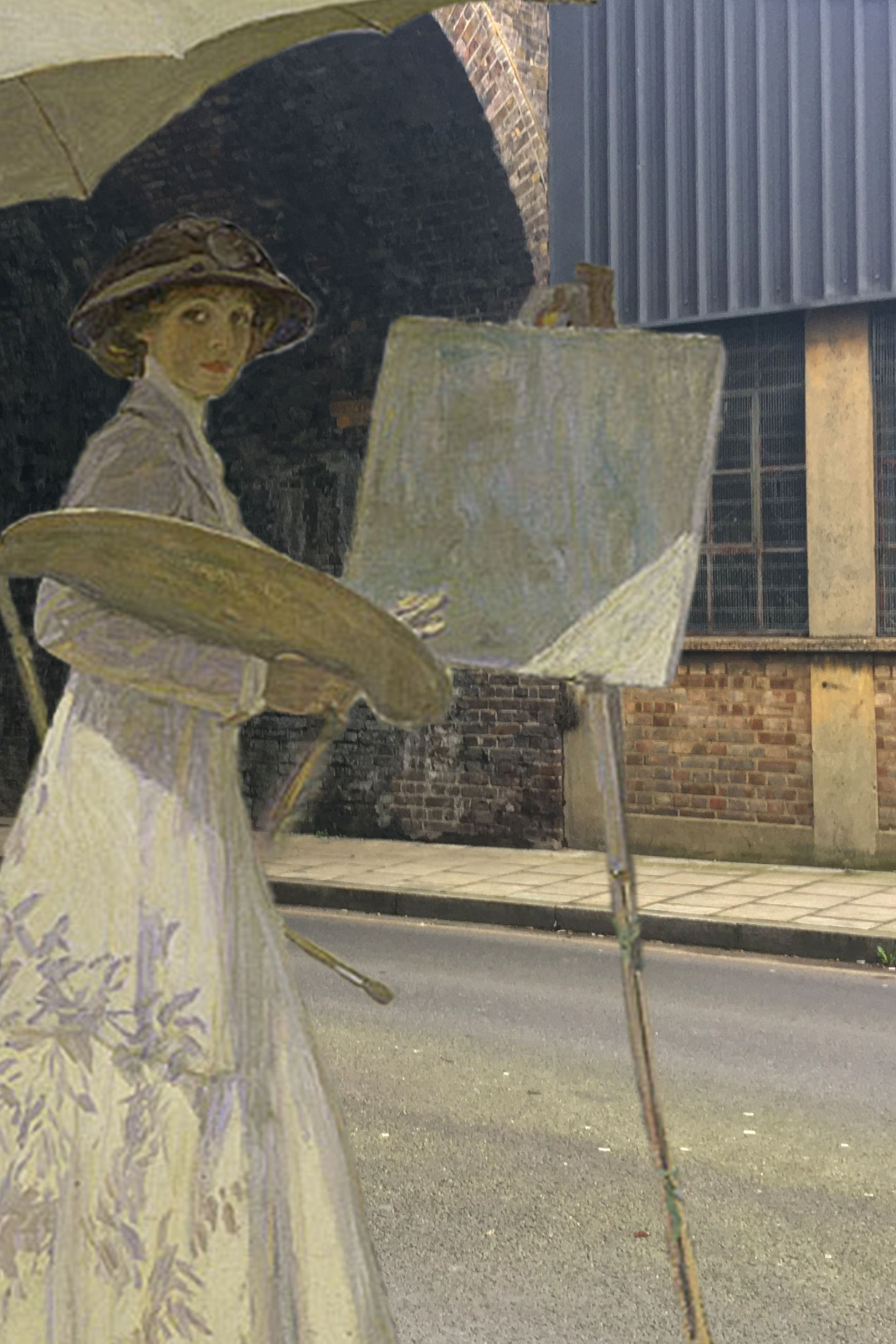 """John Lavery's """"Mrs. Lavery Sketching"""" (1910) on Arklow Road in Deptford"""