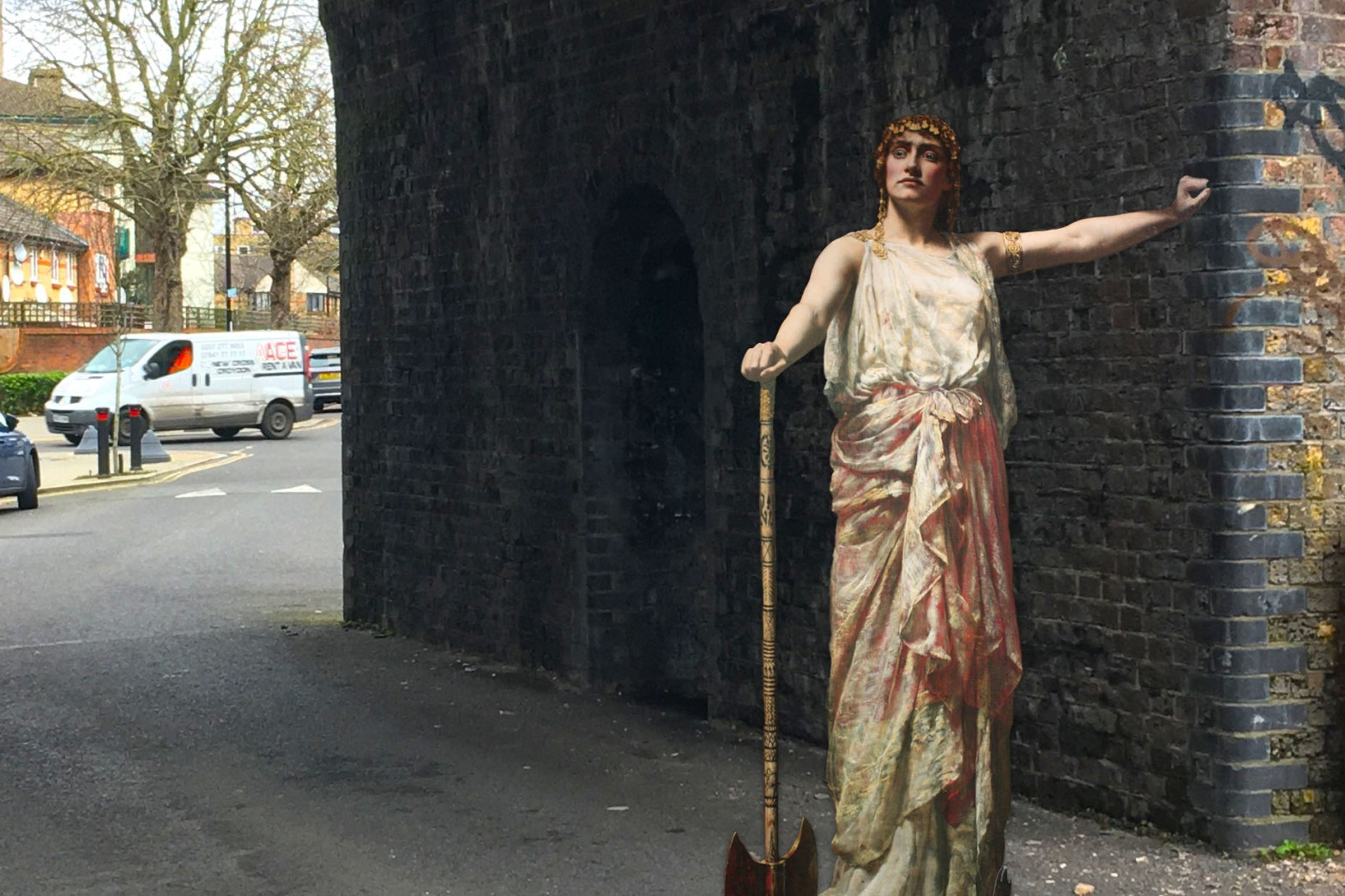 "John Collier's ""Clytemnestra"" (1882) on Arklow Road in Deptford"