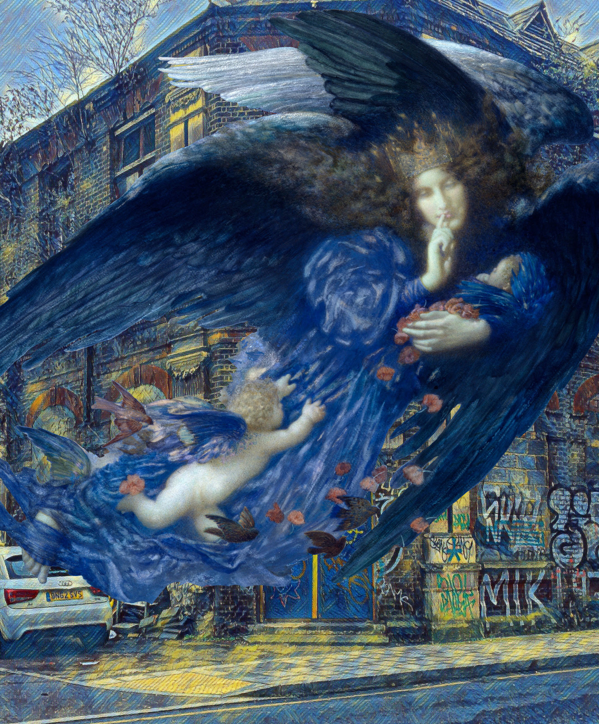 "Edward Robert Hughes's ""Night Wth Her Train of Stars"" (1912) on Arklow Road in Deptford"