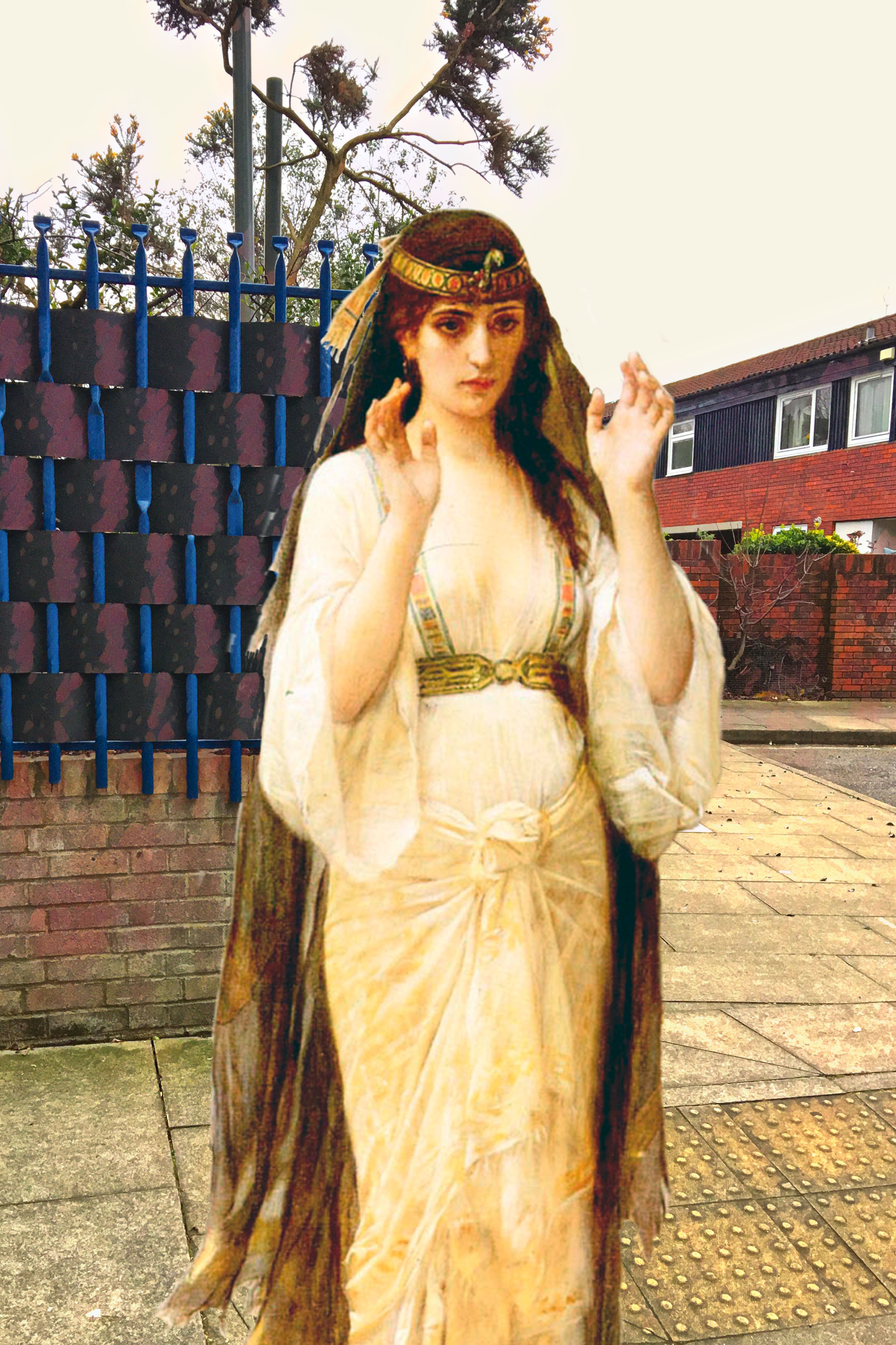 "Alexandre Cabanel's ""The Daughter of Jephthah"" (1879) on Trevithick Street in Deptford"
