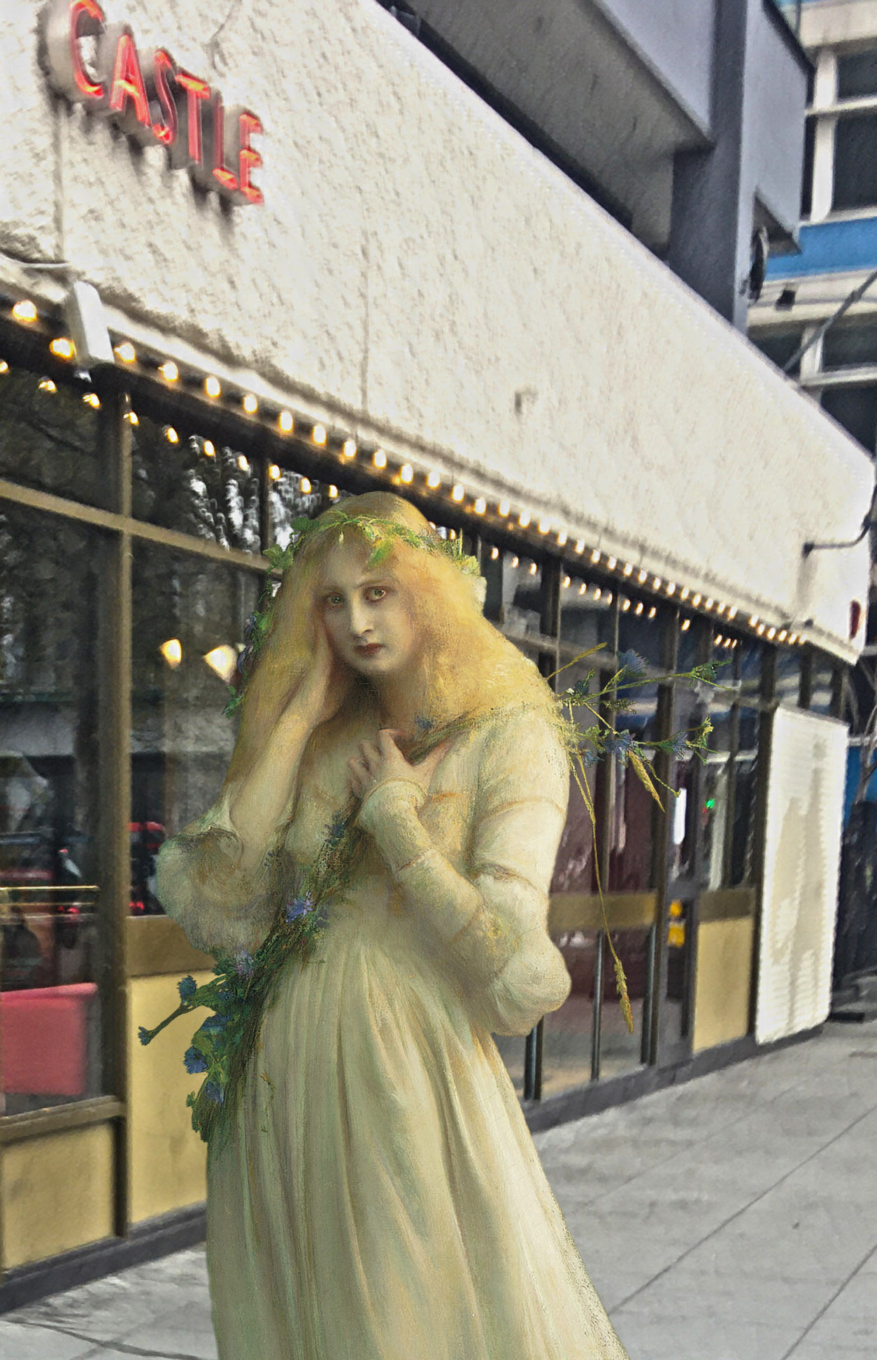 "Pascal Dagnan-Bouveret's ""Ophelia"" (1900) at the Elephant and Castle (London)"