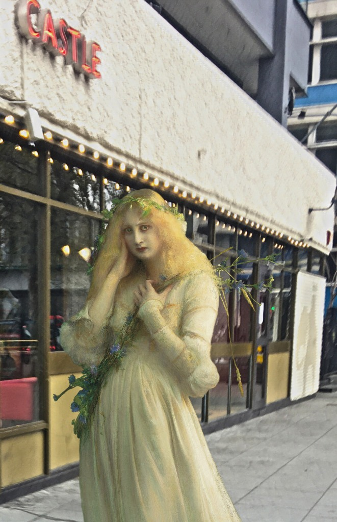 """Pascal Dagnan-Bouveret's """"Ophelia"""" (1900) at the Elephant and Castle (London)"""