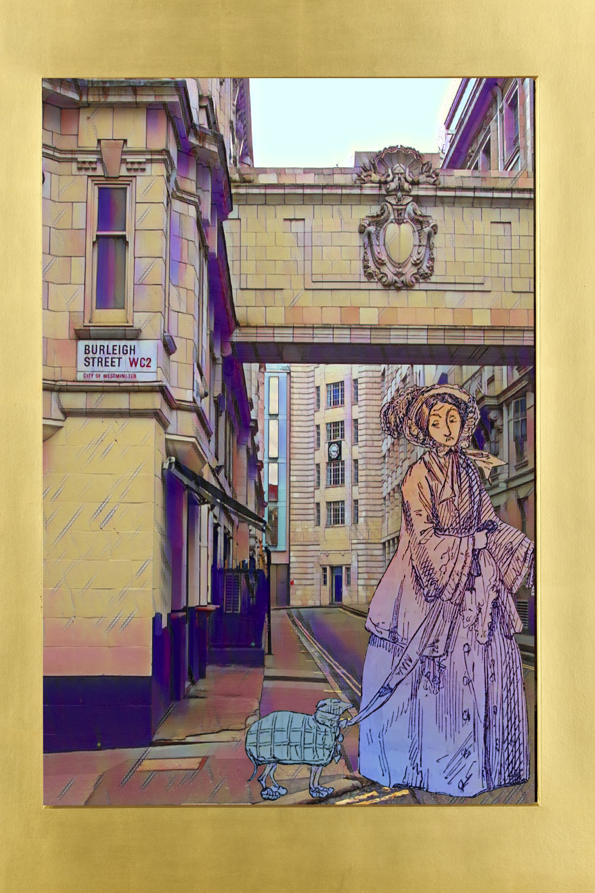 "John Leech's ""Interesting"" (1852) from ""Punch"" (vol. 22, p. 22) on Burleigh Street, Covent Garden, London"